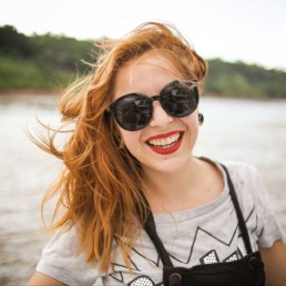 healthy hapy woman smiling outfors