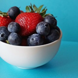 healthy food bowl of berries